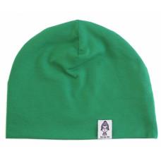 Шапка трикотажная, зеленая