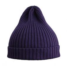 Шапка вязаная, фиолетовая