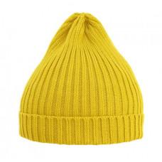 Шапка вязаная, жёлтая