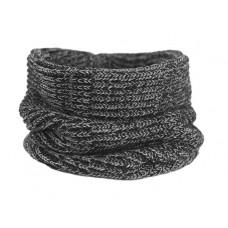 Вязаный шарф-снуд, чёрно-серый меланж