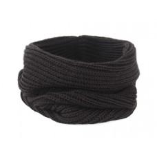 Вязаный шарф-снуд, чёрный