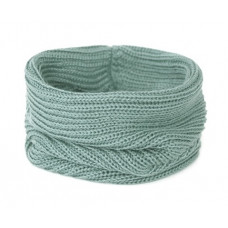 Вязаный шарф-снуд, цвет морской волны, пастельный