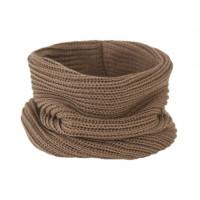 Вязаный шарф-снуд, какао