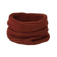 Вязаный шарф-снуд, кирпичный