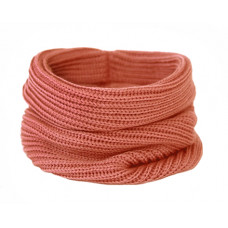 Вязаный шарф-снуд, коралловый