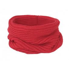 Вязаный шарф-снуд, красный
