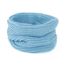 Вязаный шарф-снуд, небесно-голубой