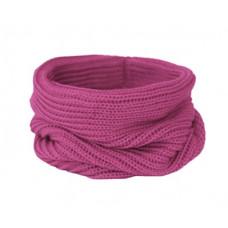 Вязаный шарф-снуд, пыльная фуксия