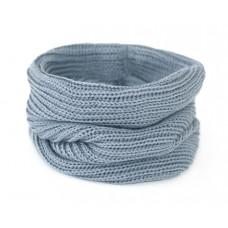 Вязаный шарф-снуд, серый