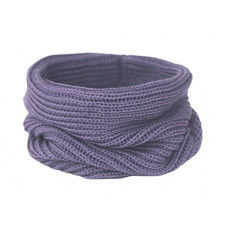 Вязаный шарф-снуд, сиреневый