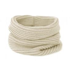 Вязаный шарф-снуд, светло-бежевый