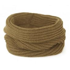 Вязаный шарф-снуд, светло-коричневый