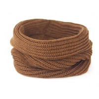 Вязаный шарф-снуд, темно-коричневый