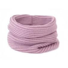 Вязаный шарф-снуд, темно-розовый