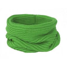 Вязаный шарф-снуд, зеленый