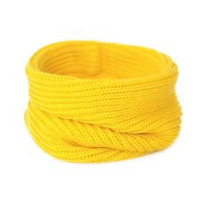 Вязаный шарф-снуд, жёлтый