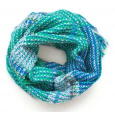 Мягкий шарфик ручного ткачества Sea Wave для взрослых и детей от 12 лет