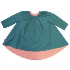 Двухстороннее платье Стрекоза, морская волна и кораллы