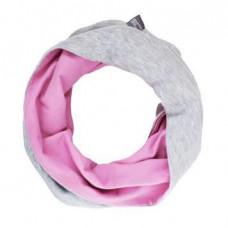 Двухсторонний шарф-снуд, розовый