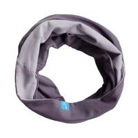 Двухсторонний шарф-снуд, серый
