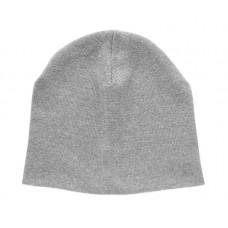 Хлопковая шапка, серый меланж