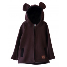 Кофта на молнии TEDDY BEAR, коричневая