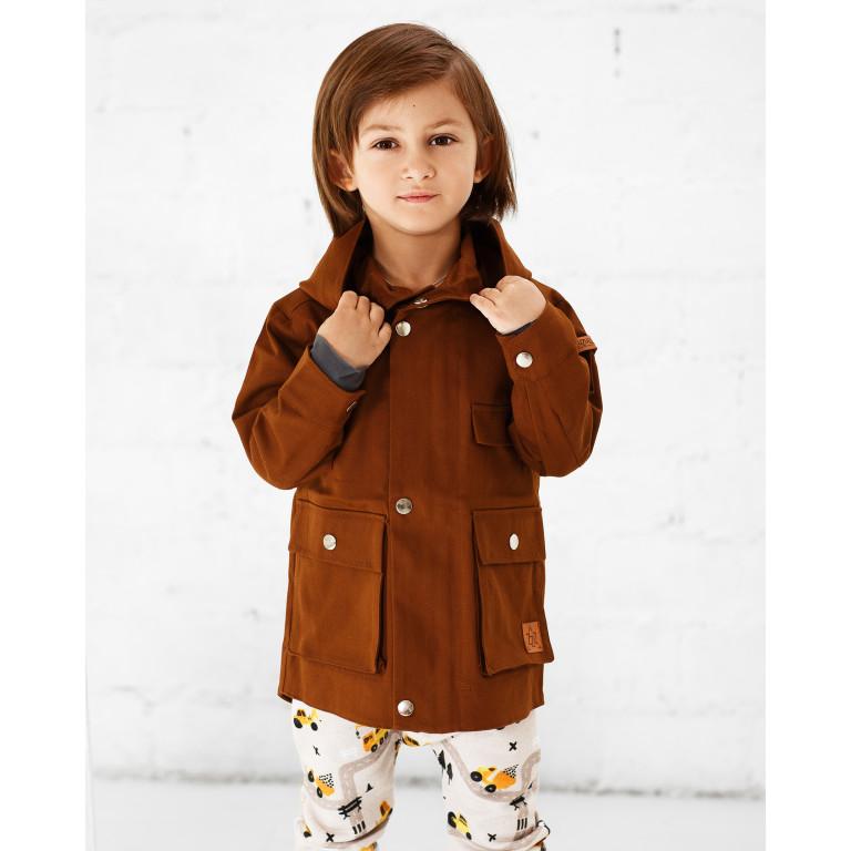 Куртка-парка, коричневая