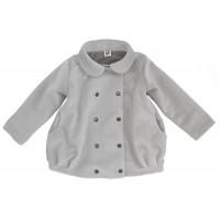 Пальто для девочек, светло-серое