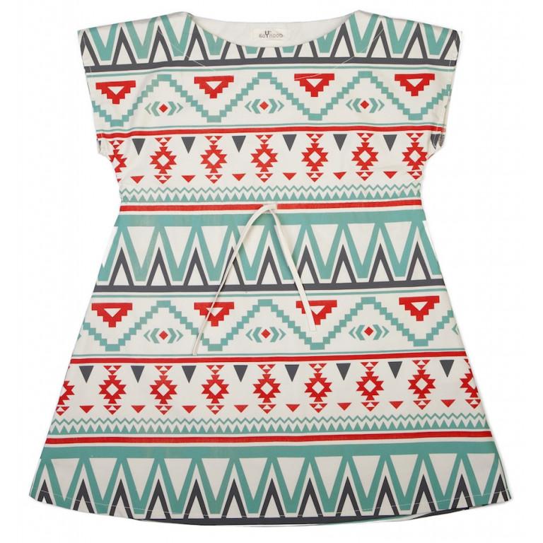Платье Ацтекский принт