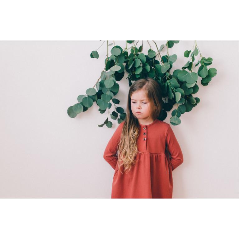 Платье Sleepyfox, терракотовое