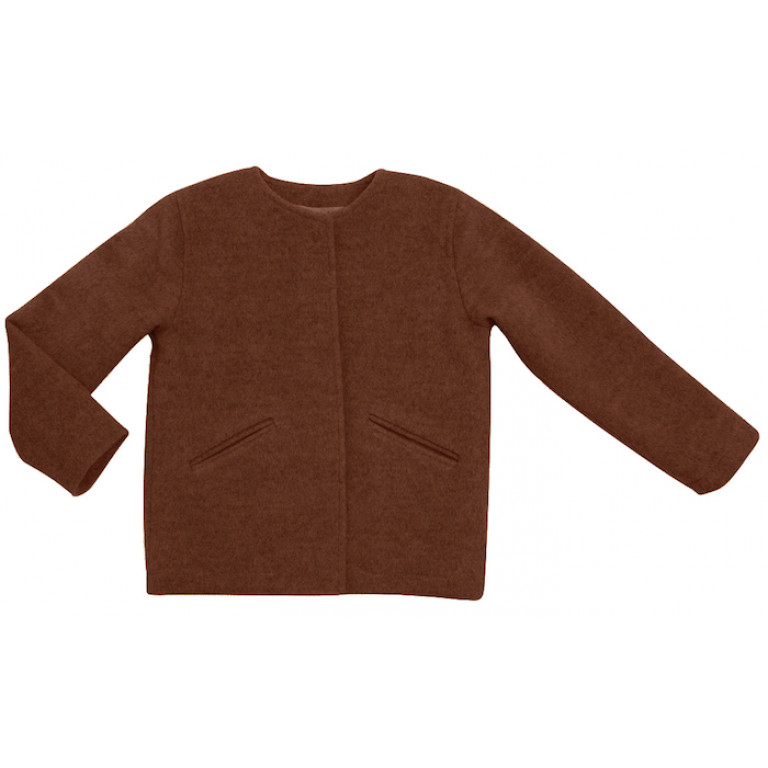 Полупальто из кашемира, коричневое