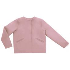 Полупальто из кашемира, светло-розовое