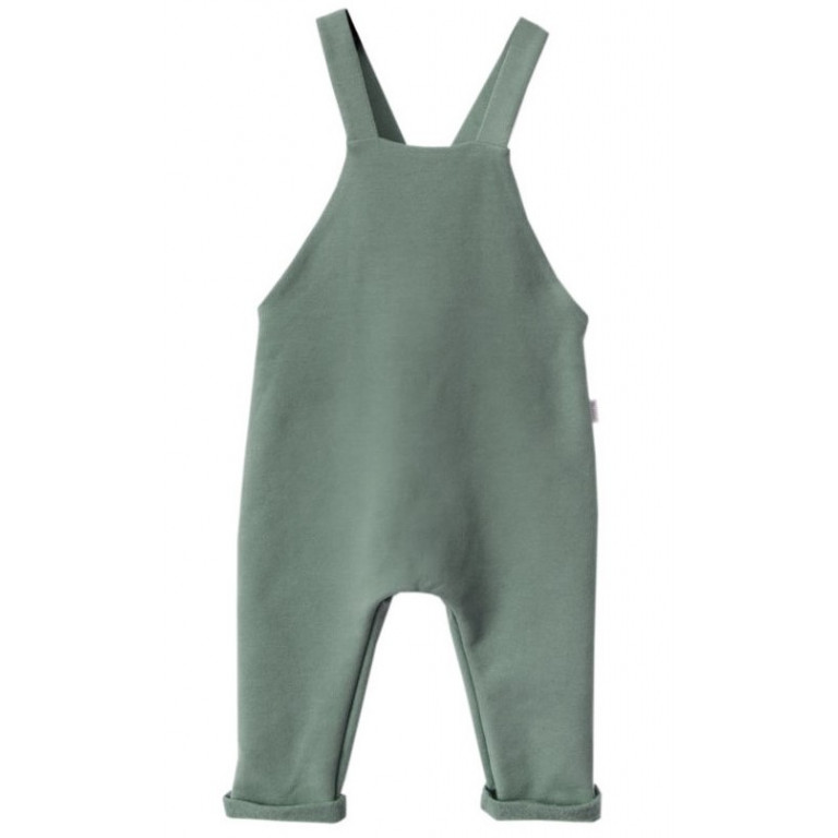 Штаны на лямках, зелёные