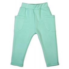 Штаны с накладными карманами, мятные