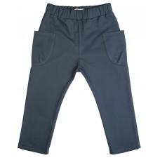 Штаны с накладными карманами, темно-бирюзовые