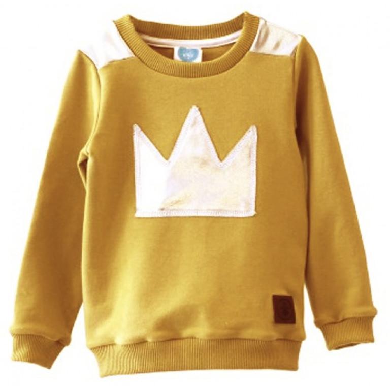 Свитшот KING, желто-горчичный