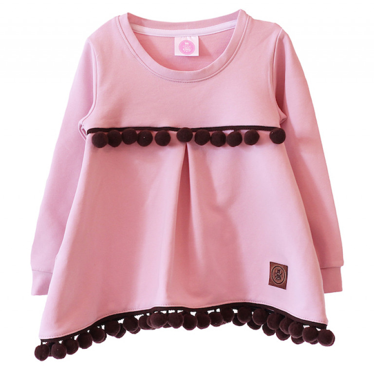 Свитшот-туника, розовый