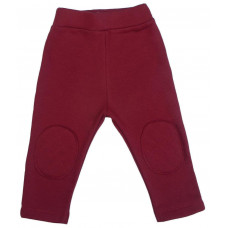 Тёплые штаны с заплатками, бордовые