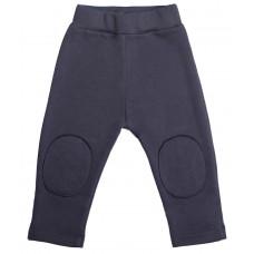 Тёплые штаны с заплатками, серые