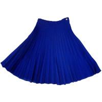 Юбка-плиссе, синяя