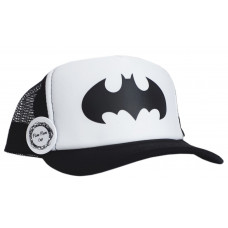 Кепка POMPOM BATMAN, чёрно-белая
