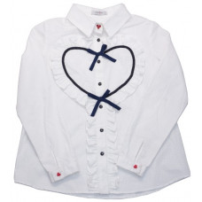 Блузка белая с сердцем