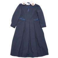 Платье со съемным  декорированным воротником