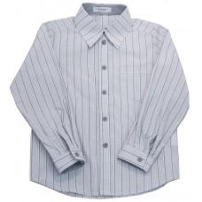 Рубашка комбинированная для мальчика, в полоску