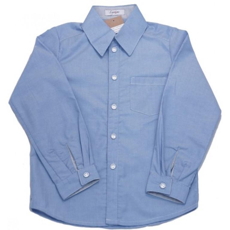 Рубашка светло-серая для мальчика, с карманом