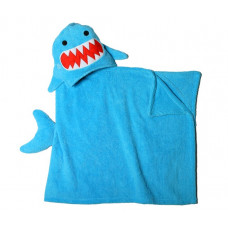 Полотенце с капюшоном для детей Акула Шерман
