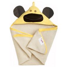 """Полотенце с капюшоном """"Желтая обезьянка"""""""
