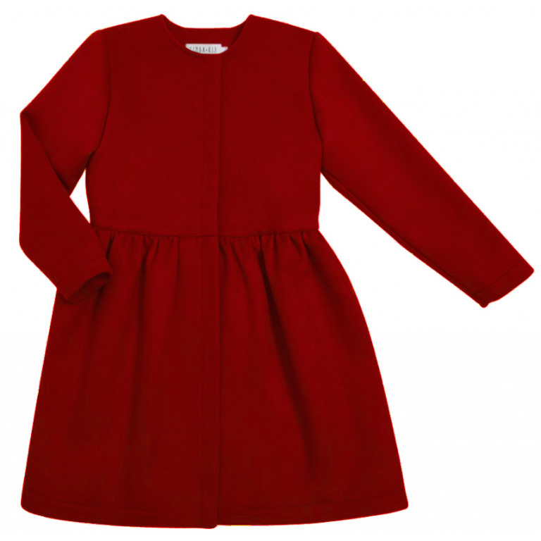 Пальто из кашемира, красное