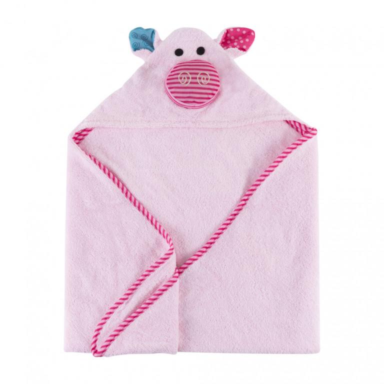 Полотенце с капюшоном для малышей Свинка Пигги